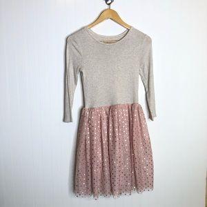 Gap Kids Gray Pink Tutu Tshirt Dress Girls 14/16